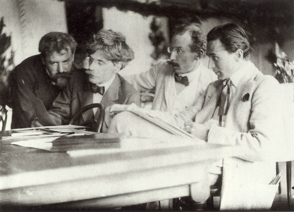 Eugene, Stieglitz, Kühn and Steichen Admiring the Work of Eugene