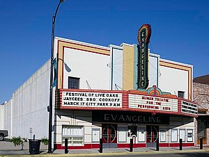 New Iberia, Louisiana - Evangeline Theatre in Downtown New Iberia
