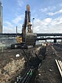 Excavation for a manhole west of Queens Boulevard in Long Island City, Queens. (CQ033, 12-19-2017) (24357371527).jpg