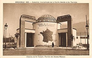 World's fair - The palace of the railways and great connexions at the International Exhibition of Hydropower and Tourism