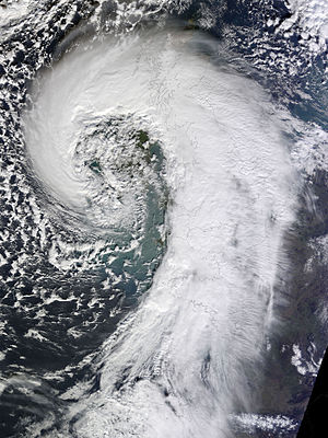 Cyclone Tini - Image: Extratropical Cyclone over the United Kingdom (12510658724)