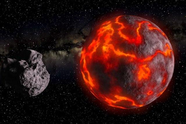 Entstehung des Mondes (künstlerische Darstellung)