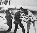 F-4B Phantom II is armed with AIM-9B Sidewinder missles aboard USS America (CVA-66), 8 June 1967.jpg