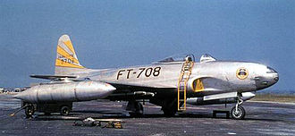 8th Fighter Wing - Lockheed F-80C-10-LO Shooting Star 49-8708 of the 8th Fighter-Bomber Group, Korea, 1950.