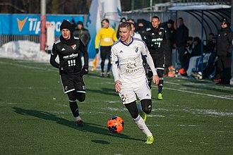 FK Poprad - Defender Peter Maslo with FK Poprad