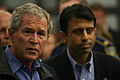 FEMA - 37942 - President Bush at the EOC in Louisiana.jpg