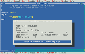 Free Pascal - Free Pascal IDE in Linux
