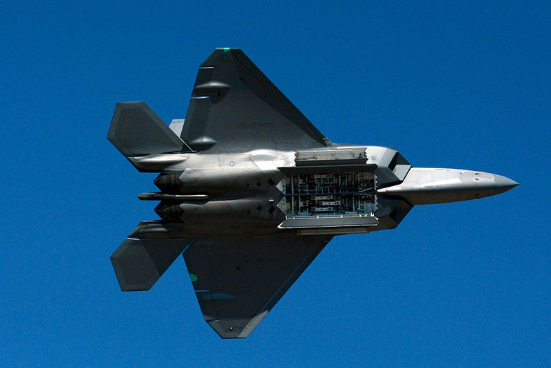File:F 22 raptor bomb bay display 2014 Reno Air Races photo D Ramey Logan.jpg