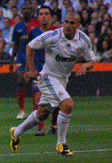 Cannavaro al Real Madrid durante il Clásico del 2 maggio 2009.