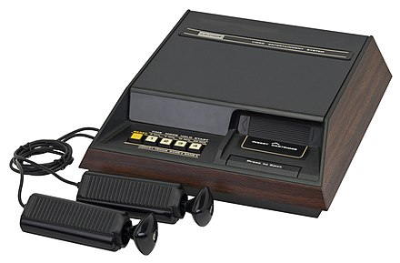 The Fairchild Channel F, with the cartridge slot on the right of the unit Fairchild-Channel-F.jpg