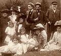 Fam. Zarifopol, Ghermani, Gherea (Sinaia 1908).jpg