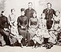 Family of András Jósa, with his six daughters.jpg