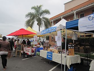 Little Italy, San Diego - Farmers market in Little Italy, San Diego