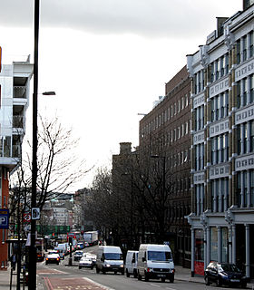 street in the London Boroughs of Camden and Islington