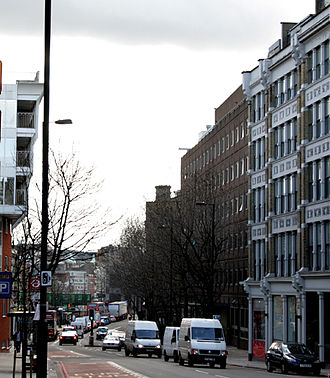 Farringdon Road - Part of Farringdon Road pictured in 2007.