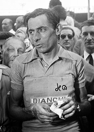 1948 Tour de France - Gino Bartali (left, pictured at the 1950 Tour) and Fausto Coppi (right, pictured at the 1952 Tour)
