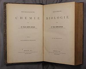 Felix Hoppe-Seyler - Physiologische Chemie, 1877