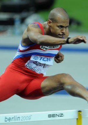Athletics at the 2003 Pan American Games - Félix Sánchez took one of two golds for hosts the Dominican Republic.