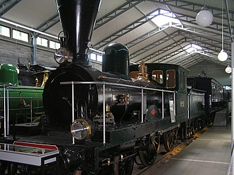 Finnish Steam Locomotive Class A5 - A5 4-4-0 No 58 locomotive in the Finnish Railway Museum.