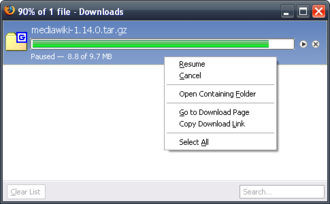 Features of Firefox - Firefox 3.0.8 Download Manager