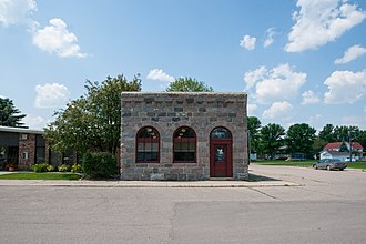 National Register of Historic Places listings in Traill County, North Dakota - Image: First State Bank of Buxton 4