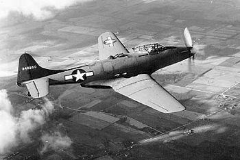 Fisher XP-75-GM In flight (SN 43-46950, 1st aircraft built) 061024-F-1234P-043.jpg