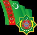Flag and Emblem of Turkmenistan.png