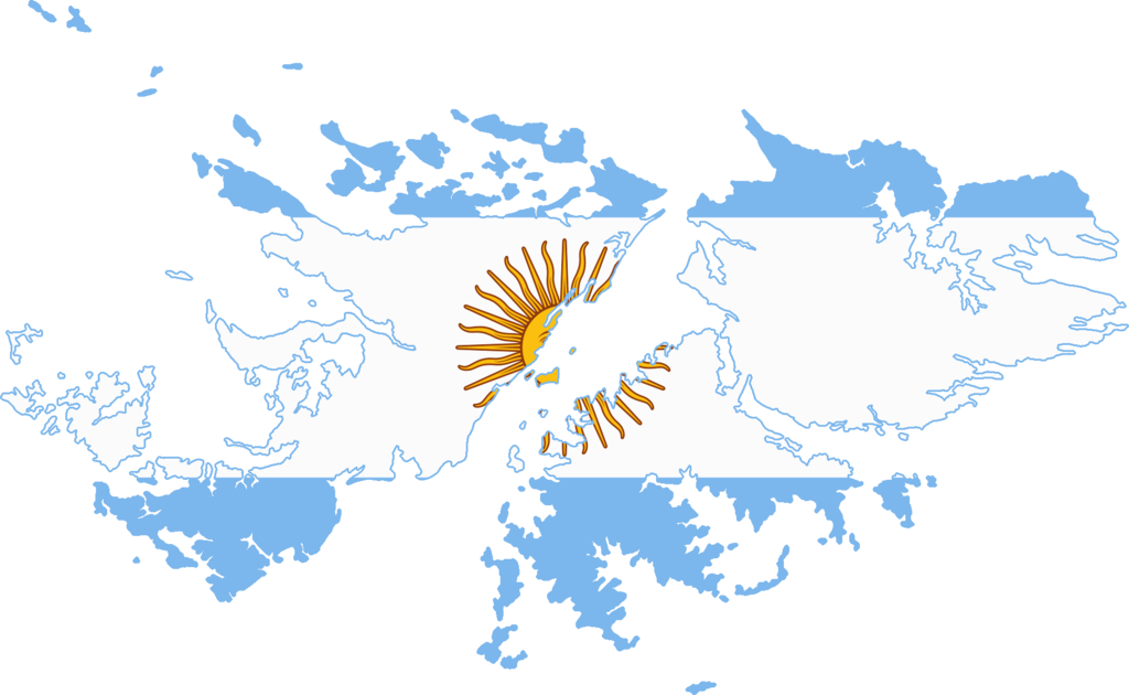 Mapa Y Ubicación Del Logo Azul Mapa Logotipo De: File:Flag Map Of Falkland Islands (Argentina).png