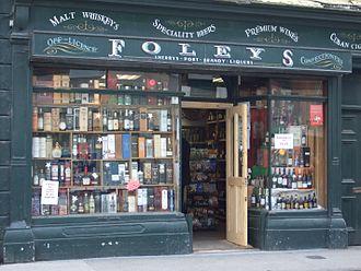 Off licence - Foley's off-licence, Sligo, Ireland.