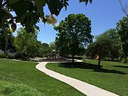 Foot path in Watson park, Lawrence KS