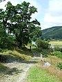 Footpath and Aeron Valley, Ceredigion - geograph.org.uk - 911852.jpg