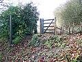 Footpath gate, Membury - geograph.org.uk - 1650301.jpg