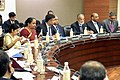 Foreign Minister Sushma Swaraj welcomes Secretary Kerry and team to plenary session of strategic dialogue.jpg