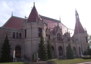 East Saginaw, Michigan - The former East Saginaw Post Office now is the site for the Castle Museum of Saginaw County History