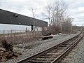 Former inbound platform of Lechmere Warehouse station, April 2017.JPG