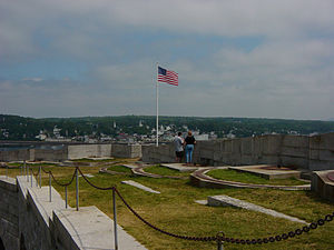 Fort Knox (Maine) - Image: Fort Knox Emplacements
