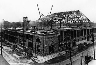 Montreal Forum - The Montreal Forum under construction in 1924.