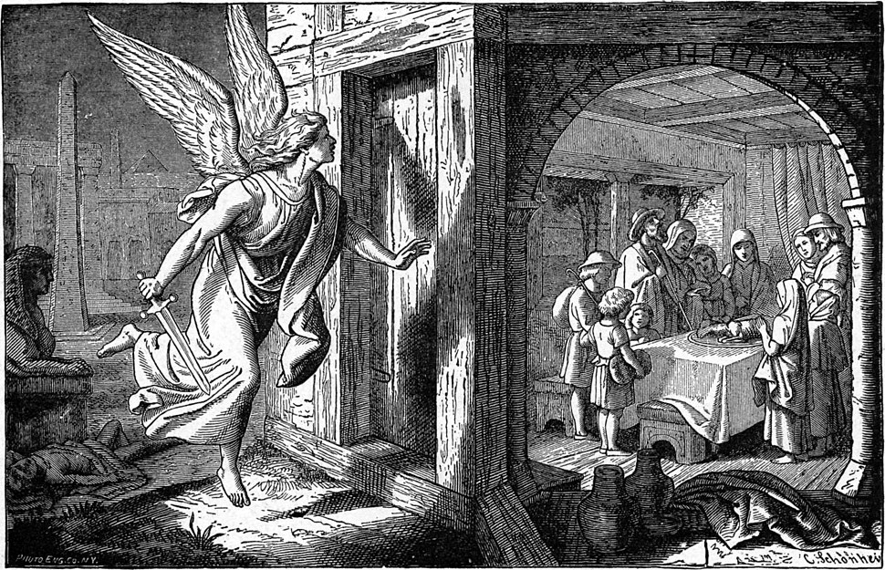 Foster Bible Pictures 0062-1 The Angel of Death and the First Passover