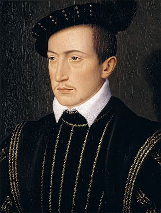 Guy XVII, count of Laval between 1531 and 1547. Portrait by Francois Clouet. Francois Clouet - Guy XVII, Conde de Laval.jpg