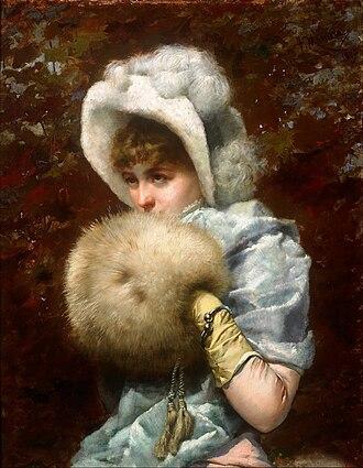 Muff (handwarmer) - Winter 1882, by Francesc Masriera.