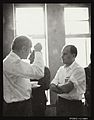 Francis Crick talking to S. Benzer in Hyderabad, 1964 Wellcome L0043353.jpg