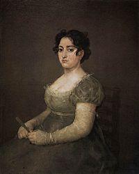 Francisco Goya: Portret damy z wachlarzem