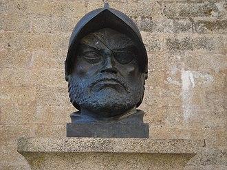 Diego García de Paredes (conquistador) - Bust of Francisco de Orellana in Trujillo, Cáceres