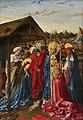 FrancoItalian (Savoy) School - The Nativity with Saint Sixtus, Saint Jerome and a Cardinal, c.1440–1450.jpg