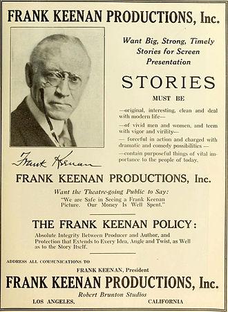 Frank Keenan - Advertisement (1919)