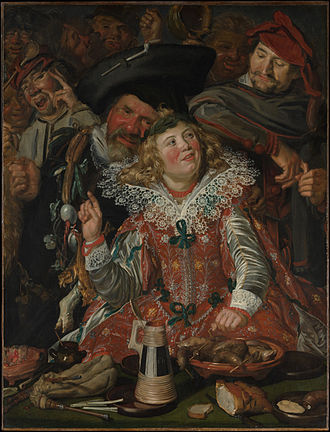 Shrovetide Revellers - Shrovetide Revellers, c.1615. Oil on canvas, 131 x 100 cm