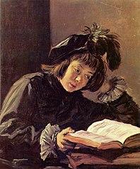 A boy reading, possibly Nicolaes Hals