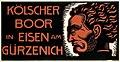 Franz Brantzky - Kölscher Boor in Eisen am Gürzenich, 1915, poster, 32.7 by 62.7 cm.jpg