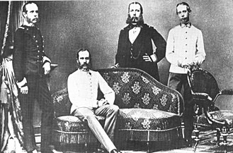 Archduke Ludwig Viktor of Austria - Ludwig Viktor (r.) with his brothers Karl Ludwig, Franz Joseph and Maximilian