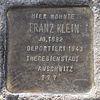 Stolperstein für Franz Klein